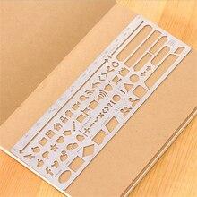 DIY Creative Cute Kawaii Hollow Metal Drawing Scale Ruler For Kids Gift Korean Stationery School Supplies