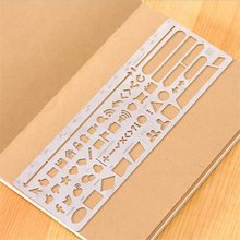 DIY Creative Cute Kawaii Hollow Metal Drawing Scale Ruler For Kids Gift Korean Stationery School Supplies Student 1620