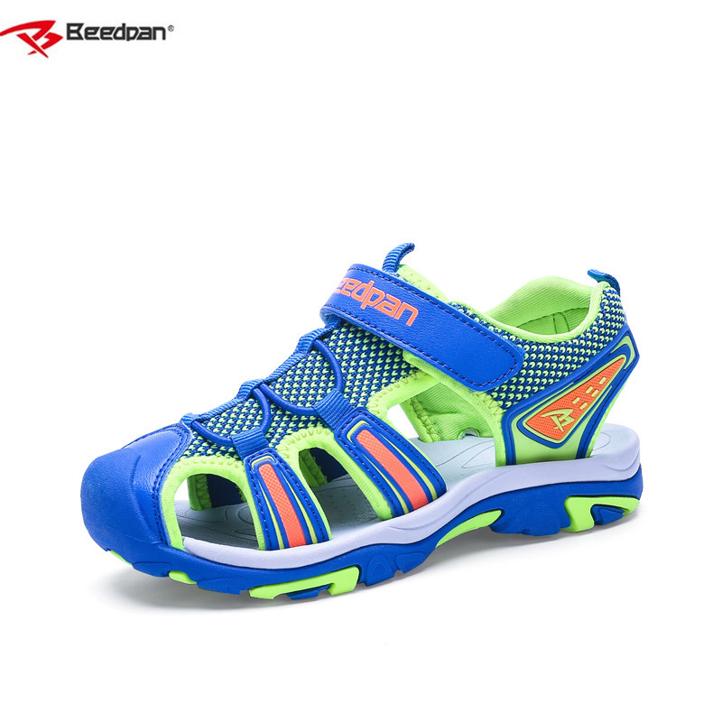 Beedpan Brand 2018 Children Summer Sandals Boys Beach Shoes Kids Sandals Outdoor Summer Baotou Leather Boys Sandals Orthopedic ...