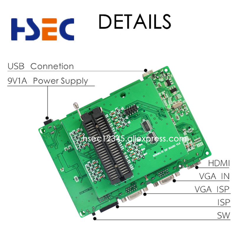 Image 5 - Free shipping Newest Universal RT809H EMMC Nand FLASH Programmer+20 Items SOP8 flash Adapter EMMC NAND NOR better than RT809F-in Integrated Circuits from Electronic Components & Supplies