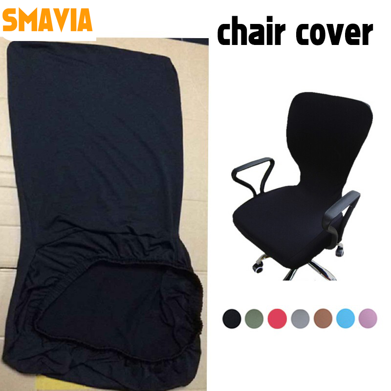 SMAVIA Modern Spandex puter Chair Cover Polyester Elastic Fabric fice Chair Cover Colors