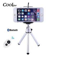 COOLJIER гибкий мини-штатив с пультом дистанционного управления для iPhone легкий мини-штатив для камеры вращающийся монопод с зажимом для телефона