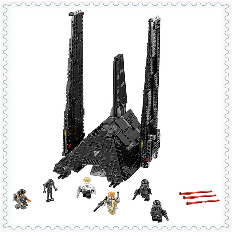 LEPIN 05049 Star Wars Krennics Imperial Shuttle Building Block 863Pcs DIY Educational Toys For Children Compatible Legoe lepin 01018 snow queen princess anna elsa building block 515pcs diy educational toys for children compatible legoe