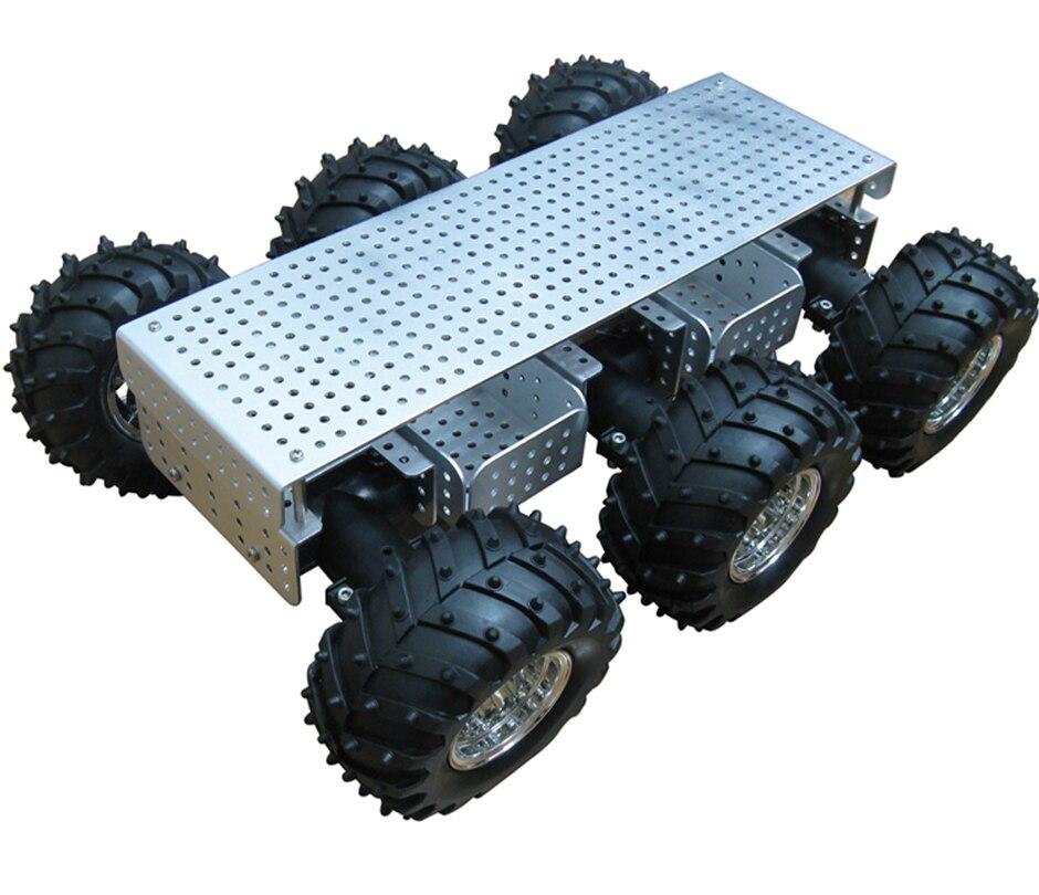 schwarz Körper Mit 34: 1 Getriebe üPpiges Design Rational Dagu Bildung Roboter 6wd Wilden Klopfer Chassis