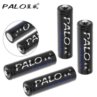 4pcs PALO 1 2V 2500mAh AA Rechargeable Battery Ni MH NiMH AA Battery With Safety Relief
