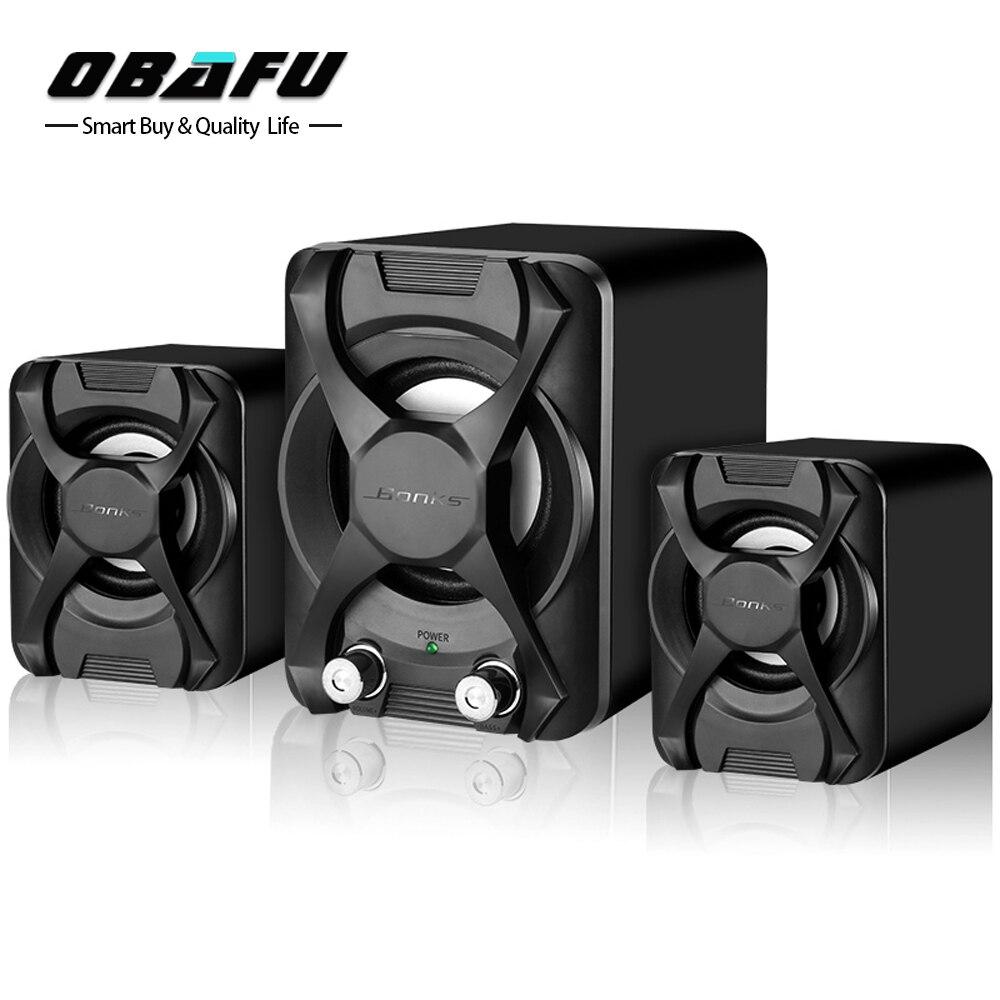 Subwoofer Stereo Bass USB 2.1 Lautsprecher Atmosphäre 3D Surround Stereo PC Lautsprecher MP3 für Smartphone Computer