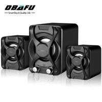 Subwoofer Stereo Bass USB 2 1 Speaker Atmosphere 3D Surround Stereo PC Speakers FM Radio For