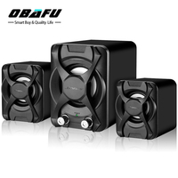 Subwoofer Stereo Bass USB 2 1 Speaker Atmosphere 3D Surround Stereo PC Speakers FM Radio For