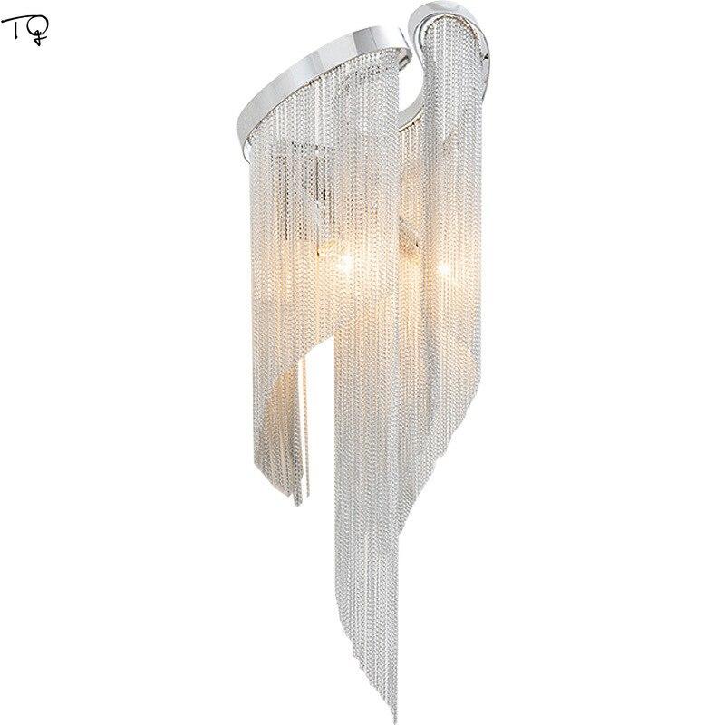 Нордическая цепочка с кисточками современная светодиодная настенная лампа для дома, спальни, коридора, коридора, ванной комнаты, роскошные
