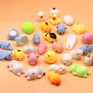 Мини-мячик для кошек, меняющий цвет, антистрессовый мячик, Сжимаемый, реагирующий на рост, мягкий липкий, снятие стресса, забавная игрушка в ...