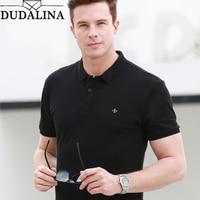 Dudalina 2019 брендовая мужская рубашка поло высокого качества новые мужские рубашки поло бизнес мужская одежда вышивка Homme