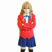Japanese anime Toradora Aisaka Taiga cosplay disfraces Japonés! ropa (Chaqueta + falda + Tie)