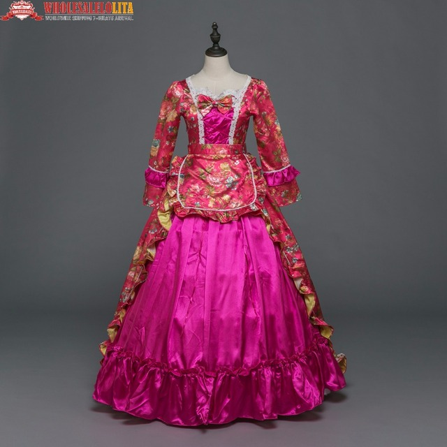 New Holiday Marie Antoinette Dress Gothic Period Medieval Clothin ...