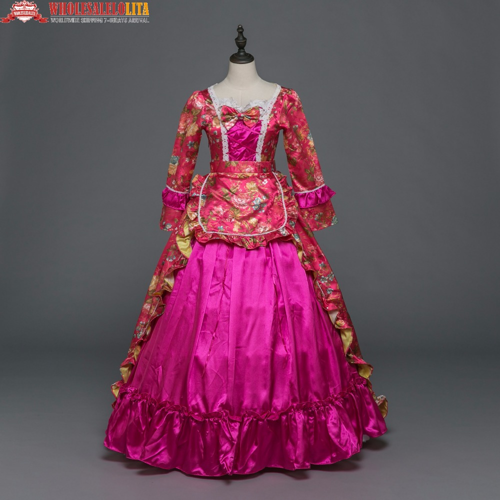 New Holiday Marie Antoinette Dress Gothic Period Medieval Clothin Princess Alice in Wond ...