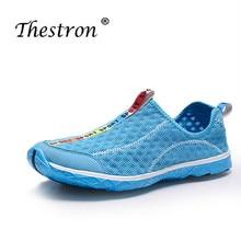 купить Thestron 2019 Summer Sport Running Shoes Couples Lightweight Athletic Gym Shoe Men Women Mesh Breathable Walking Jogging Sneaker дешево