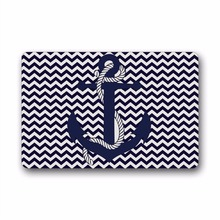 Retro Anchor Custom Doormats Bedroom Cushion Carpet Bathroom Rugs