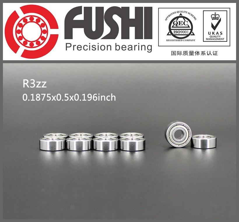 R3ZZ Bearing ABEC-1 (10PCS) 3/16x1/2x0.196 inch Miniature R3 ZZ Ball Bearings R3Z For RC Models gcr15 6326 zz or 6326 2rs 130x280x58mm high precision deep groove ball bearings abec 1 p0
