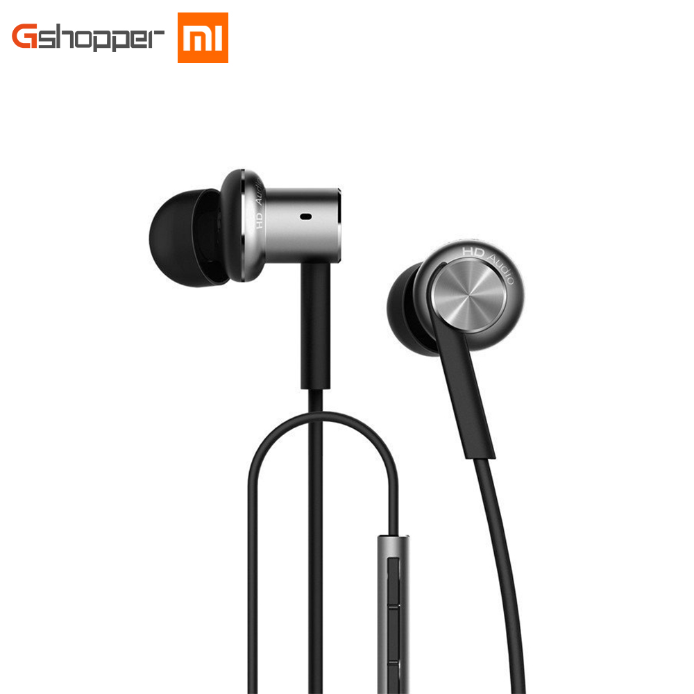 Mi Xiaomi Hybrid In Ear Stereo Earphones With Mic Earphone Silver Gold For Android IOS For
