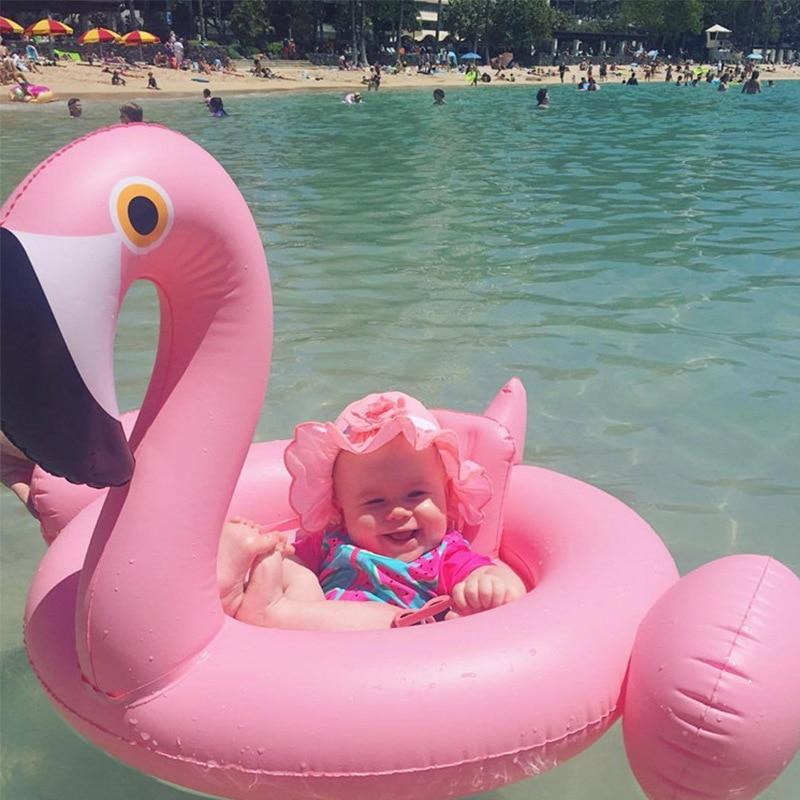 0468810074f9 Bebé inflable flamenco piscina flotador Rosa anillo de natación cisne  blanco flotante agua fiesta ...