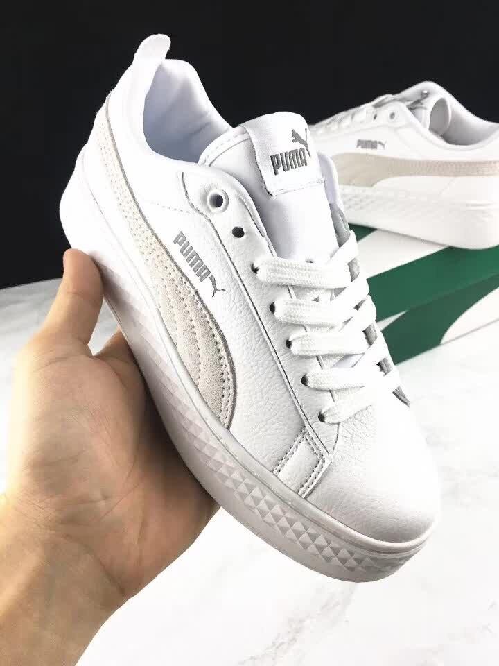 0a05de01f7c8 Original PUMA Suede Cleated Creeper Women s First Generation Rihanna  Classic Basket Suede Tone Simple Badminton Shoes