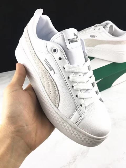 free shipping a44c3 1e37a US $55.51 17% OFF|Original PUMA Suede Cleated Creeper Women's First  Generation Rihanna Classic Basket Suede Tone Simple Badminton Shoes 36  40-in ...