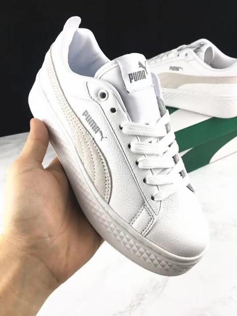 livraison gratuite 6dfb6 2b55c US $55.51 17% OFF|Original PUMA Suede Cleated Creeper Women's First  Generation Rihanna Classic Basket Suede Tone Simple Badminton Shoes 36  40-in ...