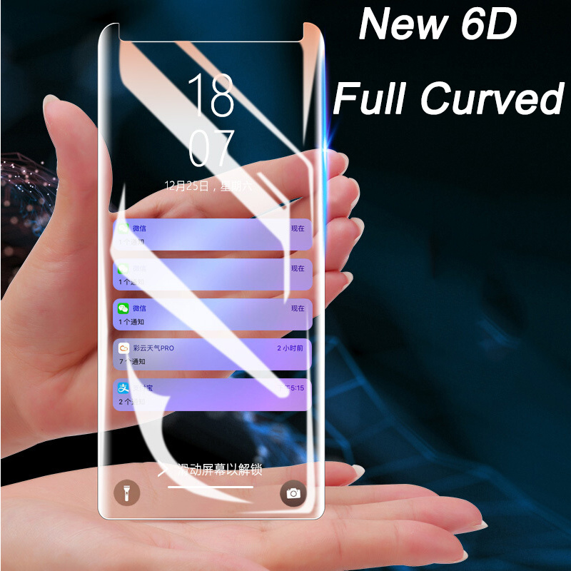 6D Tempered Galss for Samsung Galaxy S9 Glass for Samsung S8 S9 Plus Note 8 S9 Screen Protector Full Cover Cover Film for Note 9