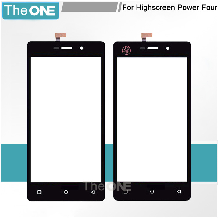 4.5 Black TP for Highscreen Power Four Touch Screen Digitizer Glass Panel No LCD Display Replacement Parts Free Shipping