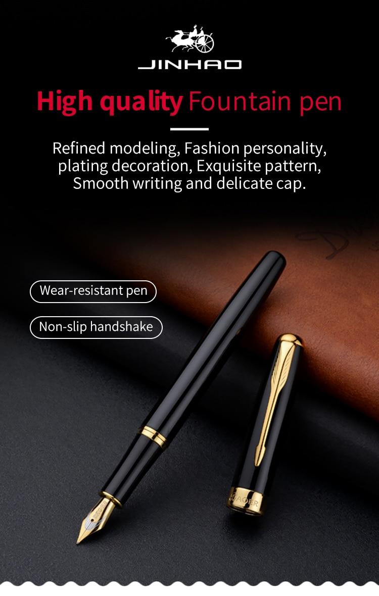 Magnetic Fountain Pen in DLC Black Titanium