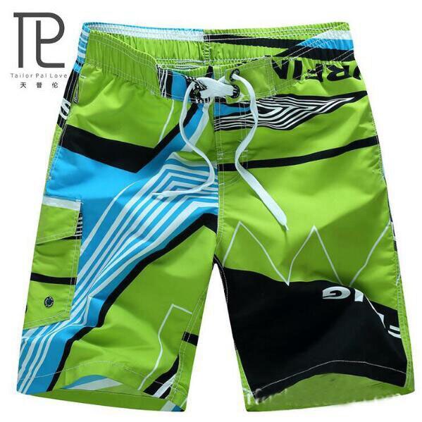 2016 HOT Quick Dry Men Shorts Brand Summer Casual Clothing Geometric Shorts Men s Sea Board