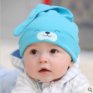 Newborn Baby Girls Boys Cute Cotton Sleep Hat Smile Face Baby Hats