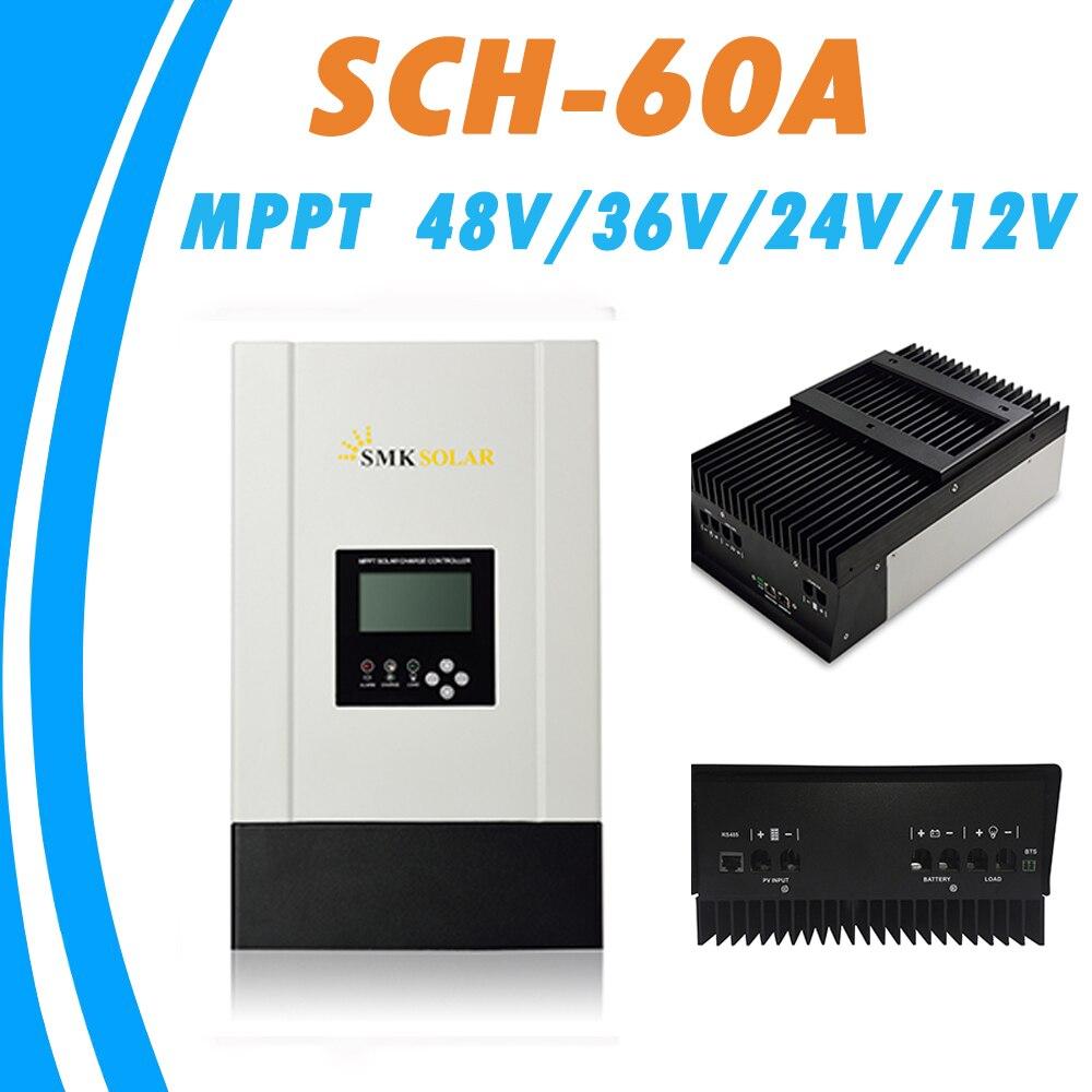 <font><b>MPPT</b></font> 60A солнечный регулятор 12 В 24 В 36 В 48 В авто для max 150 В Вход RS485 Связь радиатор охлаждения Солнечный Панель регулятор