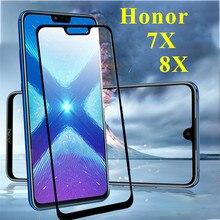 Honor 8 x чехол из закаленного стекла для huawei honer 7x8x7 max 8xmax Защитная пленка для телефона honor 7x x7 x8 чехол