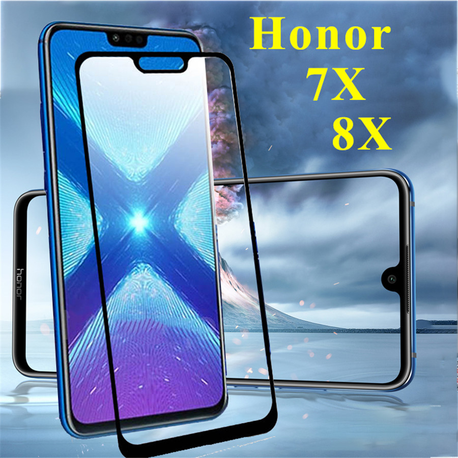 glass for honor 8x 7x max tempered glas on for huawei 8xmax 8 7 x 8x 7x s screen protector protective phone cover honor8x case(China)