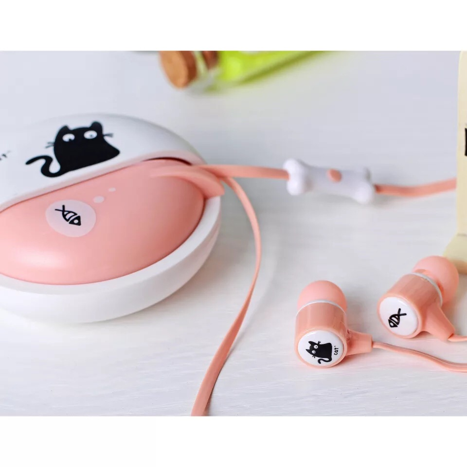 DIID can be called with a cartoon kitten headset ID65 new headphones Music headset fashion headset girl headset earbuds wholesale 20 pcs micro usb type b female 5 pin smt placement smd dip socket connector plug adapter