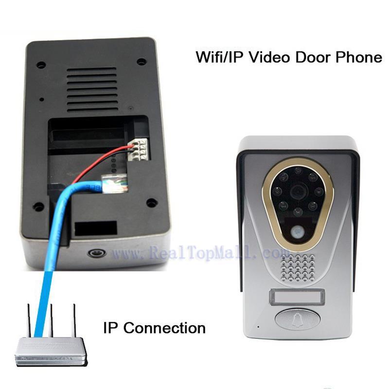 smart wifi wireless video door phone intercom interphone 720p home security camera motion sensor. Black Bedroom Furniture Sets. Home Design Ideas