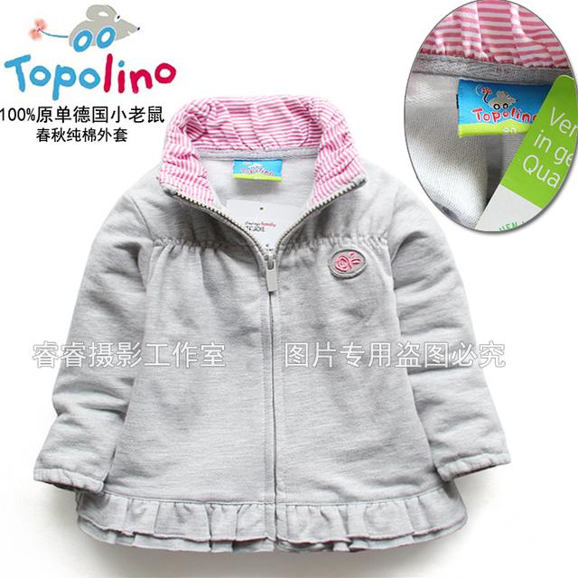 Marca Roupa Das Crianças Primavera e No outono roupas pequeno bebê infantil top cardigan outerwear girlsjackets & brasão da longo-luva