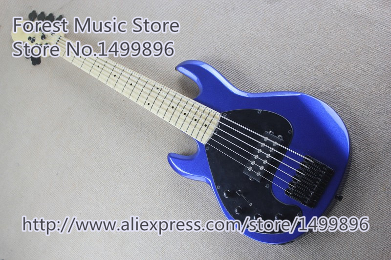 New Arrival Chinese Left Handed Musicman Electric Bass Guitar 6 String Bass Free Shipping new arrival chinese left handed 6 string electric bass guitars with metallic blue finish for sale