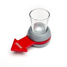 Novelty Gifts High Quality Spin The Shot Drinking Toy Party Games Anti Stress Toys Portable Night Club Board Game Drink Spinner