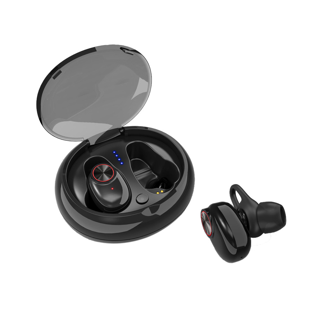 <font><b>V5</b></font> <font><b>TWS</b></font> Bluetooth Headset True Wireless Earbus with QI-Enabled Wireless Charging Case IPX6 Waterproof Long Lasting 20 image