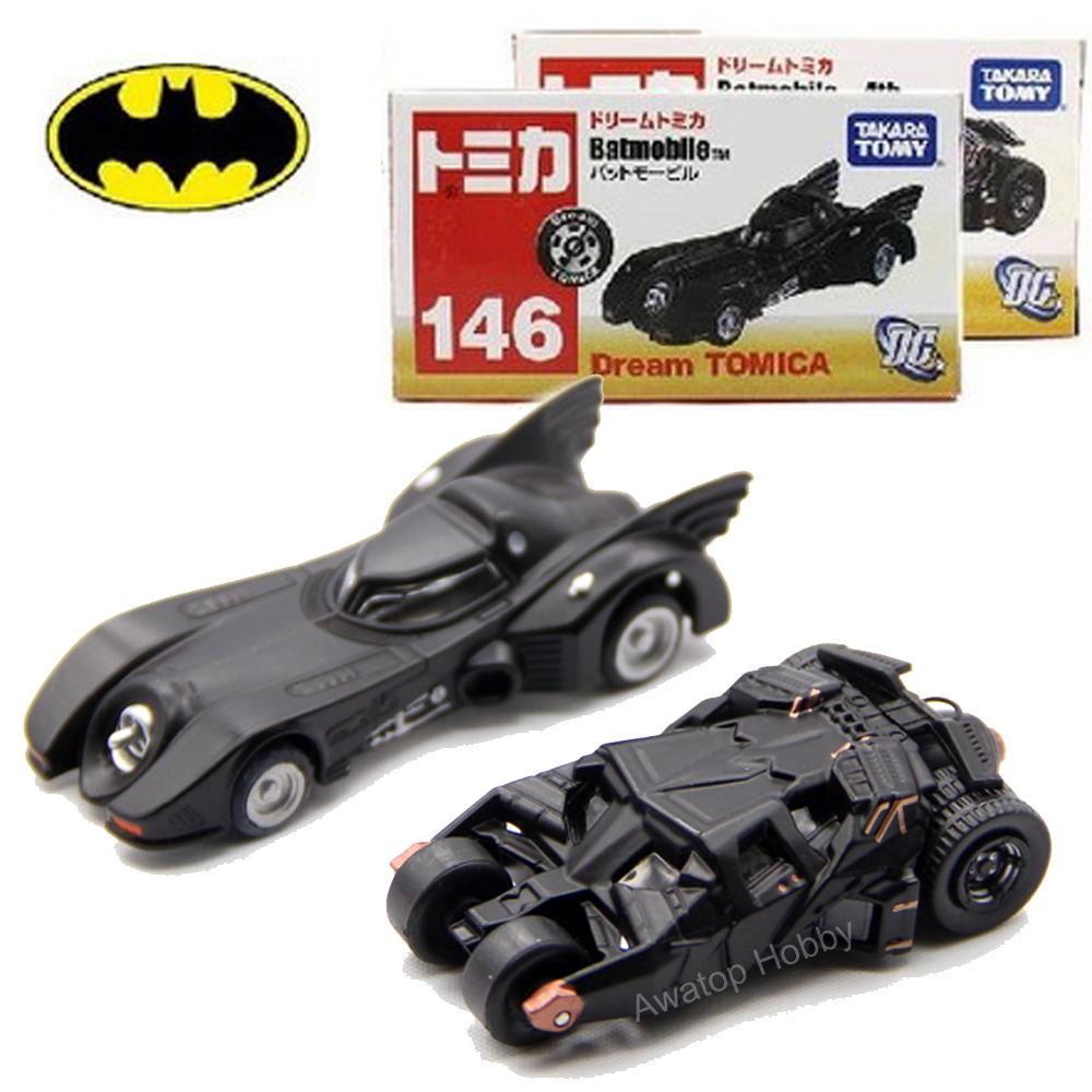 2 pieces lot 100 new dream tomica tomy dark knight batman car batmobile tumbler alloy diecast toy vehicle no 146 no 148 in diecasts toy vehicles from