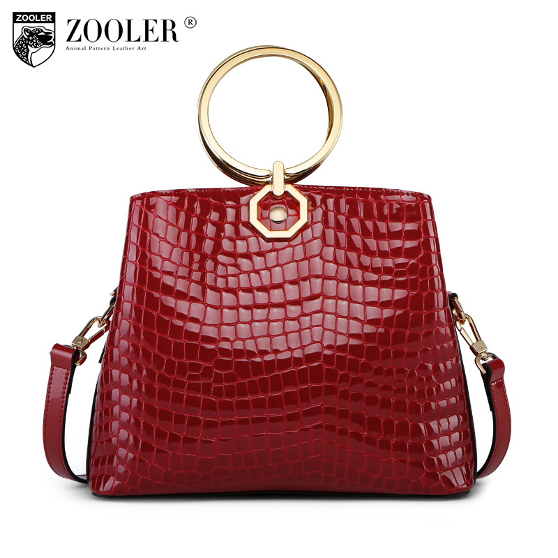 Hot &New Zooler Brand 2018 women leather bags alligator pattern top handle genuine leather bag women bag bolsas tote #y666 new product sales zooler brand zipper cowhide bag top handle shoulder bag simply solid genuine leather bag women bag bolsas c108