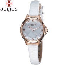 2016 Charm Julius Quartz Watch Women Bracelet Leather Strap Wristwatches Fashion Casual Ladies Watch Clock Montre Femme Relojes