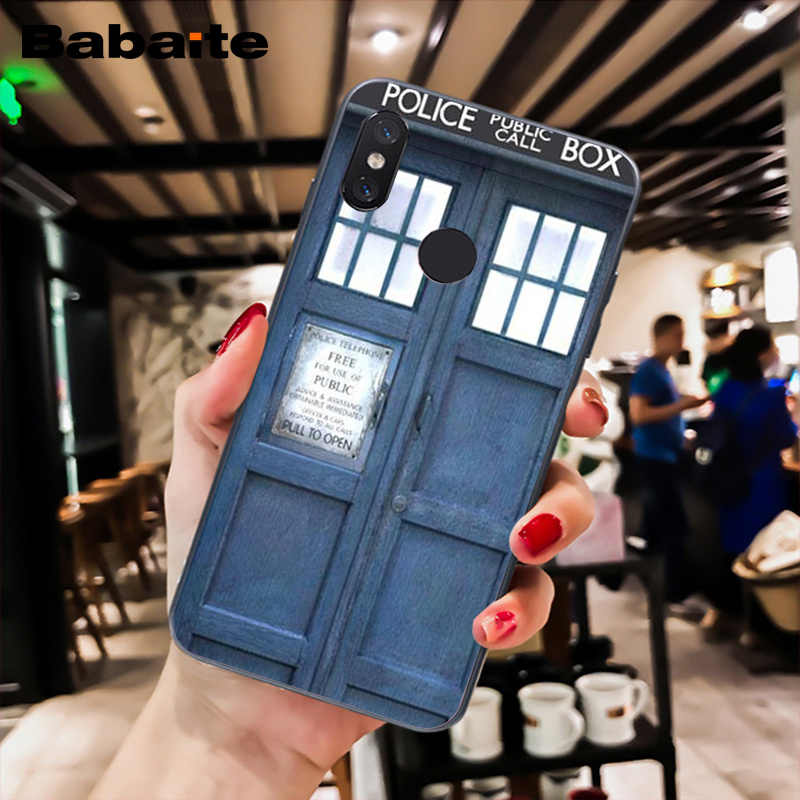 Babaite TARDIS Doctor Dr Yang Police Box Hitam Ponsel Case untuk Xiaomi MiA1 A2 Lite F1 Redmi 4X 5Plus s2 Note7 Redmi Note4