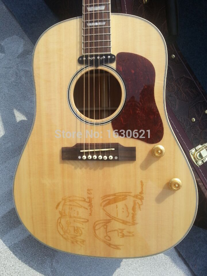 2019 New Factory Natural color Chibson G160 acoustic guitar John Lennon G160E acoustic guitar with spruce