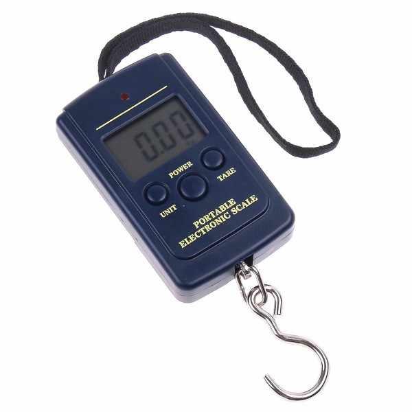 Nova 20g/40Kg Portátil Mini Balança Eletrônica Digital Hanging Escala Bagagem Pesca Peso de Bagagem Steelyard LCD