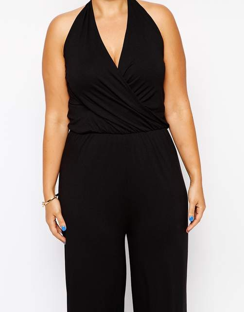 1a57c02281b50 Online Shop Plus Size Women Jumpsuits 6XL Sleeveless Women Rompers Black  Halter Jumpsuit Large Big Size Lady Summer Clothing 5XL 4XL Clothes