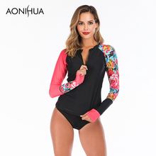 Aonihua 2019 Summer New Arrivals Two Piece Swimsuit Front Zipper Separate Bathting Suit Swimming For Women