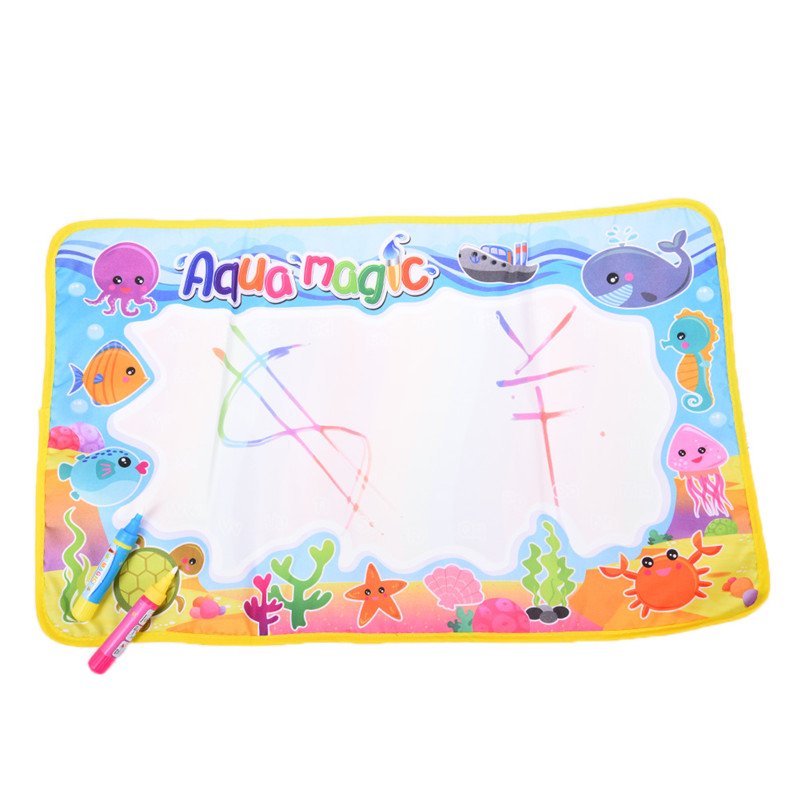 New-59x36cm-Multicolor-Rainbow-Water-Drawing-Mat-with-2-Pen-Aqua-Doodle-Mat-Rug-For-Painting-Xmas-Gift-Kids-Toys-2