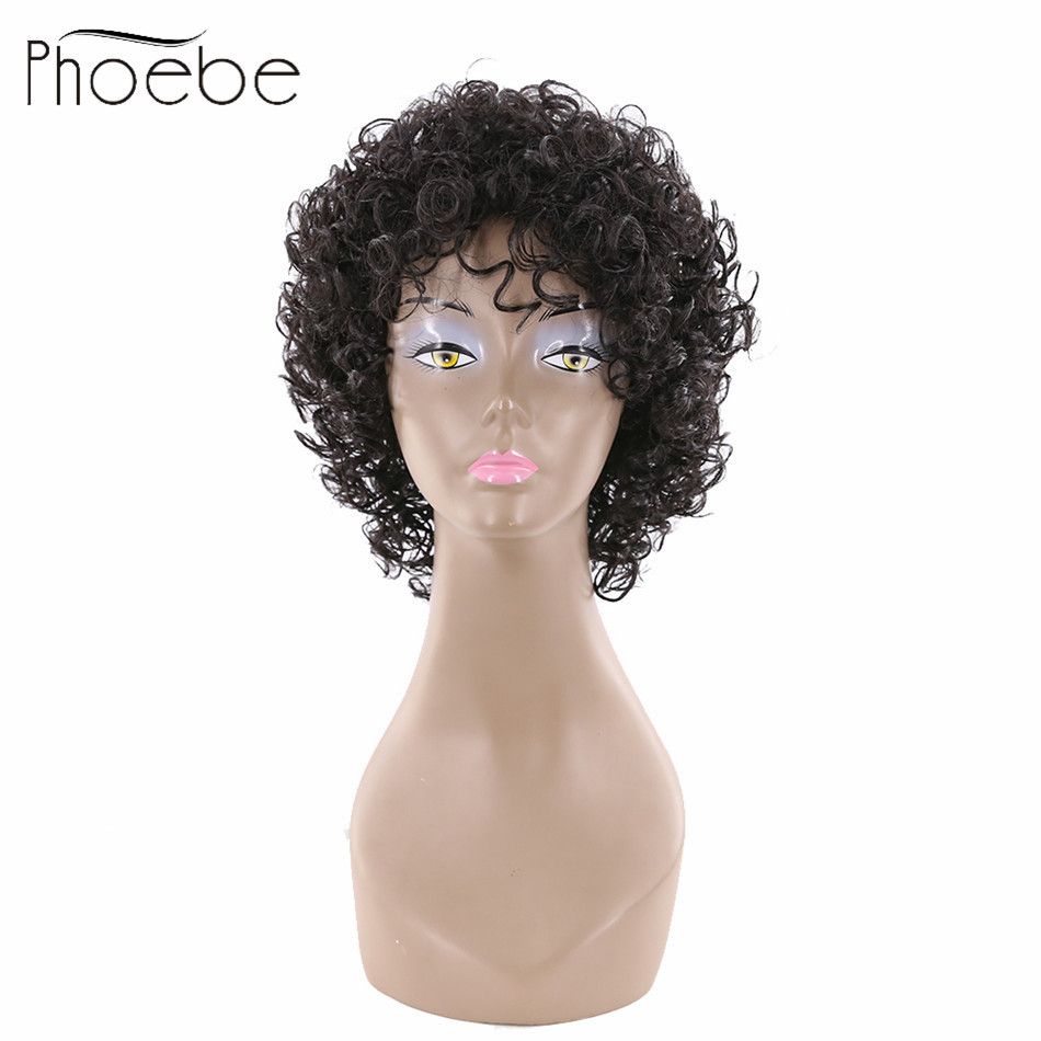 Phoebe Brazilian Full Lace Wigs Human Hair With Baby Hair Lace Front 7a Grade Short With Bang wigs for Black Women No Small